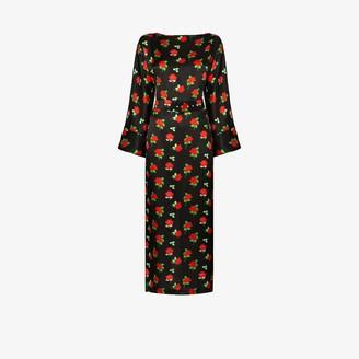 BERNADETTE Jackie satin belted dress