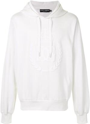 Dolce & Gabbana Tonal-Logo Drawstring Hoodie