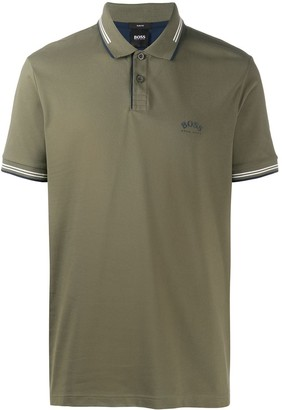 HUGO BOSS Logo-Print Polo Shirt