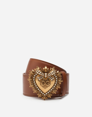 Dolce & Gabbana Leather Devotion Belt