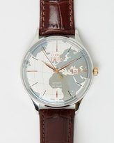 Cerruti Swiss Made Croc Embossed Leather Watch