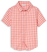 Janie and Jack Little Boy's & Boy's Gingham Button-Down Shirt