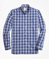 Brooks Brothers Plaid Broadcloth Sport Shirt