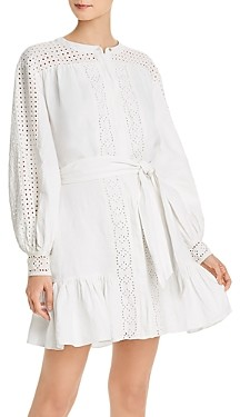 Joie Bastina Eyelet Detail Linen Dress