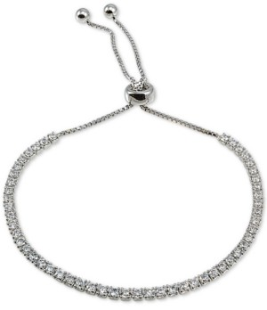 Giani Bernini Cubic Zirconia Bolo Bracelet in Sterling Silver, Created For Macy's