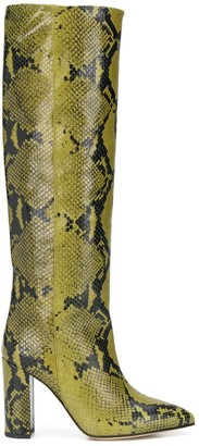 Paris Texas Snake Embossed 95mm Boots