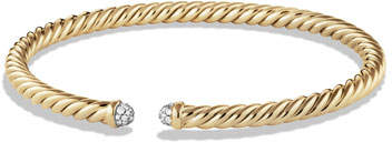 David Yurman Cable Bracelet in Gold with Diamonds