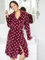 M&Co Love heart print fleece robe
