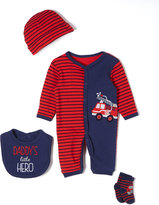 Buster Brown Red Firetruck Playsuit Layette Set - Infant