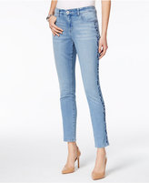 Style&Co. Style & Co Embroidered Slim-Leg Ankle Jeans, Only at Macy's