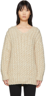 The Row Beige Flania Sweater