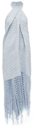 Jacquemus Cortese Halterneck Boucle Dress - Light Blue