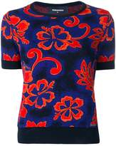 DSQUARED2 floral embroidered top