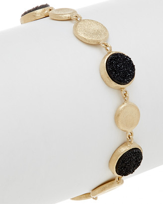 Rivka Friedman 18K Clad Druzy Quartz Bracelet