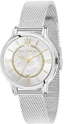 Three Hands Maserati Women's Watch, Epoca Collection, Quartz Movement, Version with Date, Stainless Steel Watch - R8853118504
