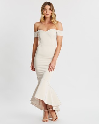 Miss Holly - Women's Nude Maxi dresses - Nicola Dress - Size One Size, XS at The Iconic