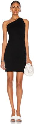 Victor Glemaud One Shoulder Dress in Solid Black | FWRD