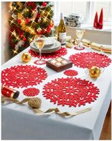 Very Metallic Placemats And Coaster Set 4 Place Setting