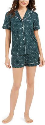 Alfani Super Soft Printed Top & Shorts Pajamas Set
