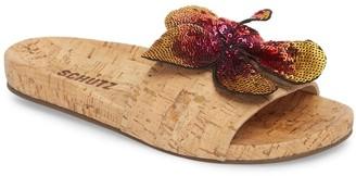 Schutz Geisa Cork Slide Sandal