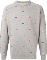 MAISON KITSUNÉ fox embroidered sweatshirt
