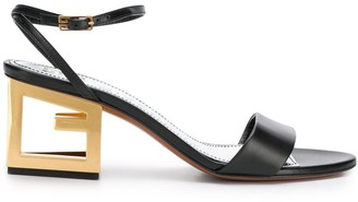 Givenchy G heel leather sandals