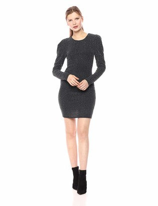 BCBGeneration Women's Cocktail Puff Sleeve Bodycon Knit Dress
