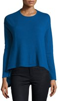 Neiman Marcus Cashmere Pullover Sweater, Blue