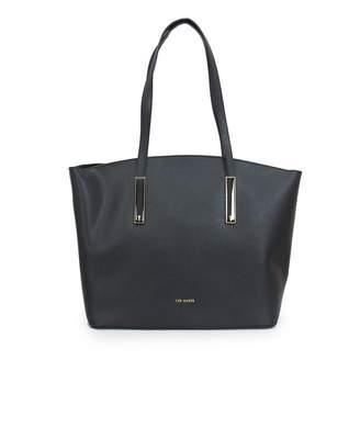 Ted Baker Soft Leather Large Shopper Bag Colour: BLACK, Size: One Size