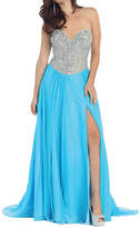 Asstd National Brand Sexy Strapless Prom Dress With Lace Up Back
