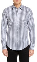 BOSS Men's Robbie Extra Trim Fit Plaid Sport Shirt