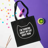 Purple Tree Designs 'Thinking About My Cat' Tote Bag