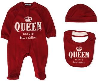 Dolce & Gabbana Kids Queen-Print Babygrow Set