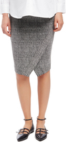 Motherhood Secret Fit Belly Textured Pencil Maternity Skirt
