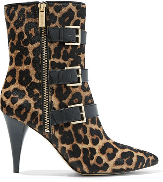 MICHAEL Michael Kors Lori Leopard-print Calf Hair Ankle Boots