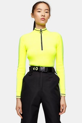 Topshop Neon Yellow Knitted Layering Top by SNO