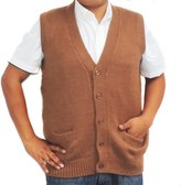 CELITAS DESIGN Vest alpaca and blend V neck buttons made in Peru Dark S