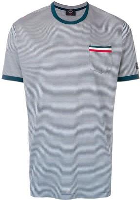 Paul & Shark tricolour detail striped T-shirt