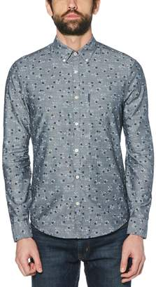 Original Penguin Floral Printed Chambray Shirt