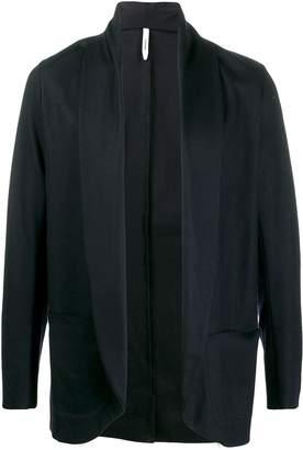 Attachment open front knit jacket