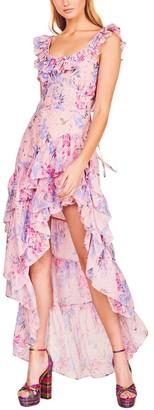 LoveShackFancy Winslow Silk-Blend Dress