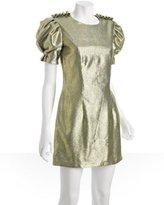 Christian V. Siriano gold silk 'Red Carpet' shift dress