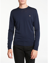 John Smedley Long Sleeve Crew Neck Jumper, Midnight