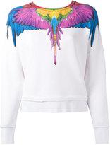 Marcelo Burlon County of Milan rainbow feather print sweatshirt - women - Cotton - XS