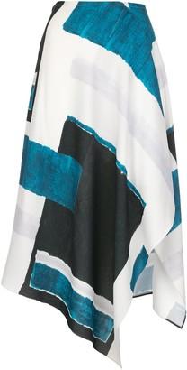 Natori Asymmetric Panelled Skirt