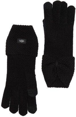 UGG Bow Wool Blend Tech Glove
