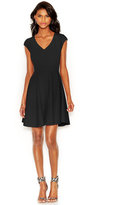 Bar III Cap-Sleeve Fit & Flare Dress, Only at Macy's