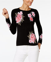INC International Concepts Petite Floral Tiger Sweater, Only at Macy's