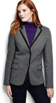 Lands' End Women's Luxe Twill Blazer-Blue Brook