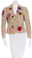 Moschino Embroidered Floral Pattern Blazer
